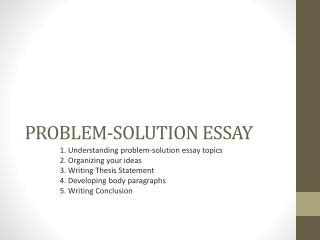 College Essay: Thesis statement of the problem definition